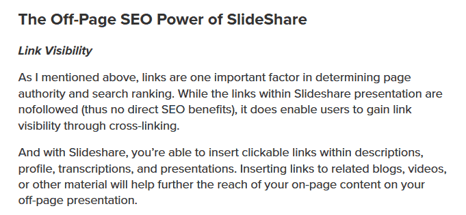 Blog Post SEO tips: Off Page power of slideshare