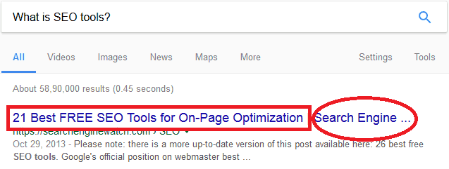 Title Tag for Content Optimisation